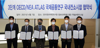 Agreement to form a Korean consortium for joint internal research of the 3-stage OECD/NEA ATLAS
